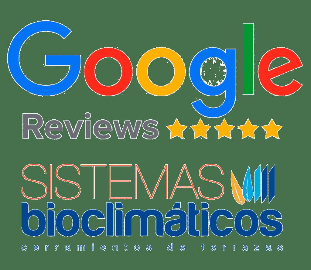 Reseñas en Google de las Opiniones de los Clientes de Sistemas Bioclimaticos y sus instalaciones de Cerramientos de Terrazas, Áticos y Porches con Pérgolas Bioclimáticas, Cortinas de Cristal, Techos Móviles y Fijos