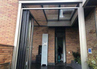 TECHO FIJO CON CERRAMIENTO VERTICAL REPLEGABLE EN TERRAZA DE MADRID CENTRO 1