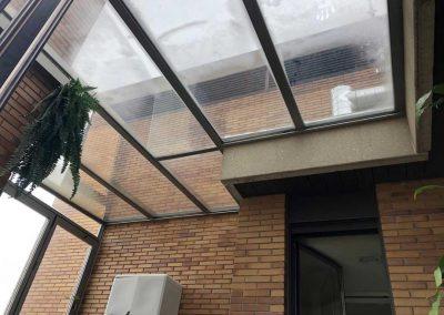 TECHO FIJO CON CERRAMIENTO VERTICAL REPLEGABLE EN TERRAZA DE MADRID CENTRO 4