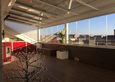 Techo Movil y Cortina de Cristal en terraza atico 2